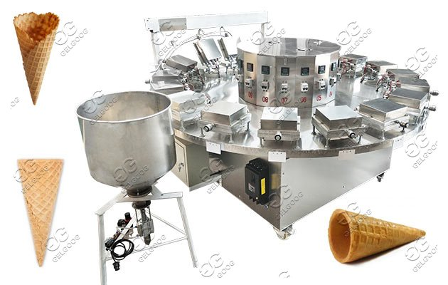 Semi Automatic Ice Cream Waffle Cones Machine Supplier