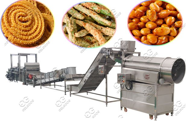 Industrial Green Beans Frying Line|Fried Peas Nuts Processing Equipment