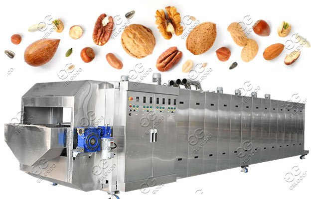 Continuous Nuts Soybean Roasting Cooling Machine Processing Line