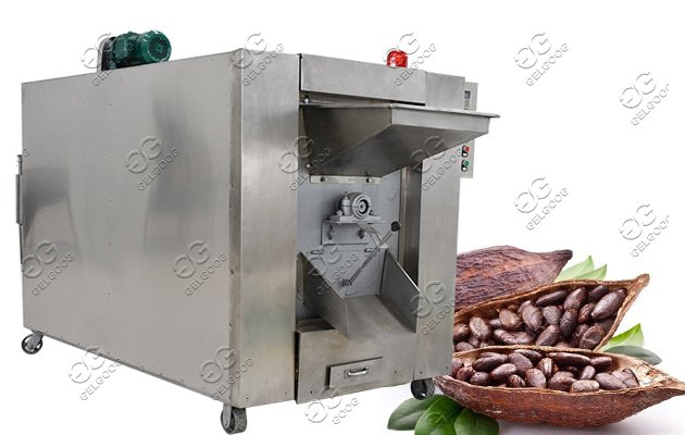 Drum Type Cocoa Bean Roasting Machine For Commercial Use
