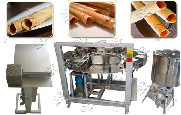 Automatic Waffle Rolls Barquillos Making Machine Price