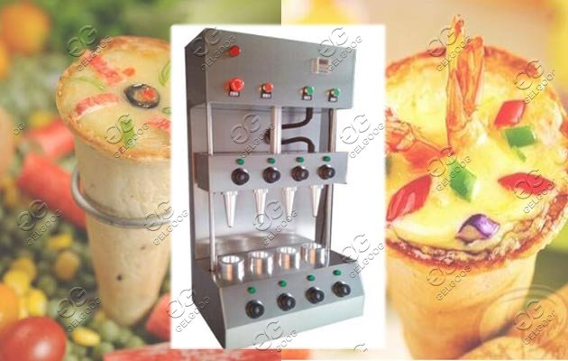 Small Pizza Cones Equipment With 4 Cones Maker and Baking Oven