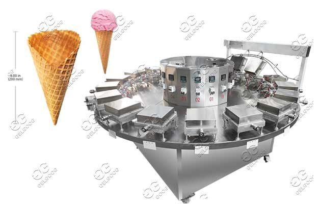 Semi-automatic Ice Cream Cones Baking Rolling Machine Supplier