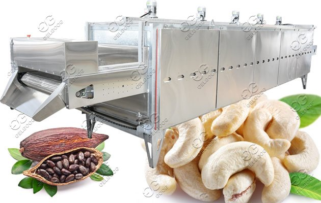 Continuous Nuts Roasting Line|Peanut Cashew Cocoa Beans Roasting Machine