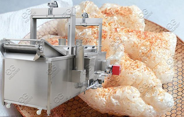 pork skin frying machine