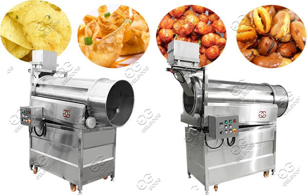 Snack Chips Flavoring Machine|Drum Type Namkeen Nuts Seasoning Machine