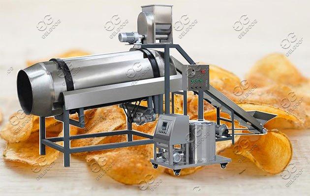 Single-Drum Flavoring Line|Snack Chips Seasoning Machine