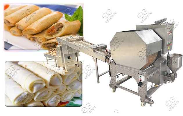 Automatic Samosa Sheet Making Machine Commercial Spring Roll Wrappers Equipment