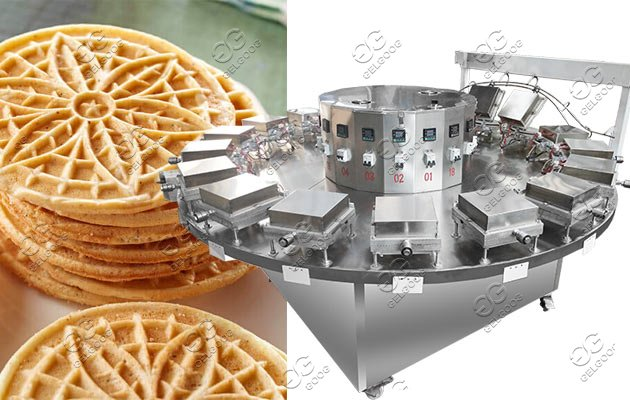 Automatic Italian Pizzelle Baking machine |Round Waffle Cookie machine