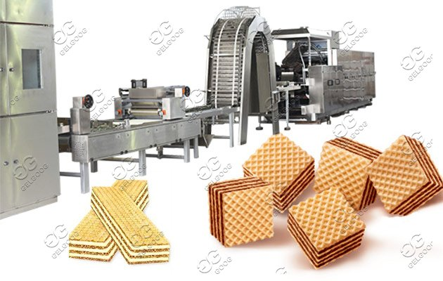 Wafer Biscuit Cookie Production Line With 51 Moulds