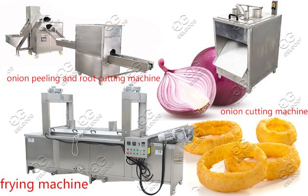 onion rings making machine line