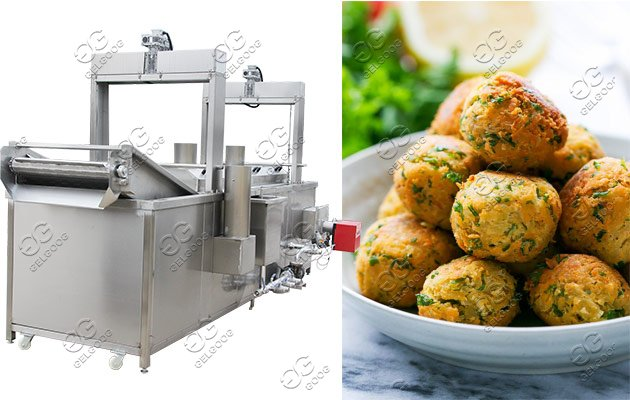 Automatic Falafel Frying Machine For Sale|Fried Chickpea Patties Machine