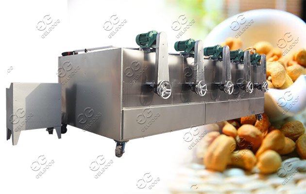 Almond Cashew Pistachio Nut Roaster Machine Drum Type