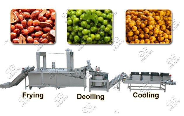 Automatic Peanut Frying Line|Fried Nut Processing Line On Sale