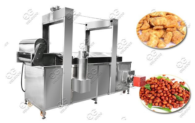 Continuos Frying Machine For Peanuts Broad Beans