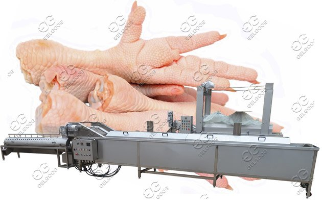 chicken feet skin peeling machine
