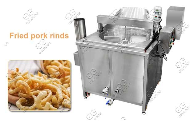 Pork Rinds Pig Skin Batch Fryer Stainless Steel Machine