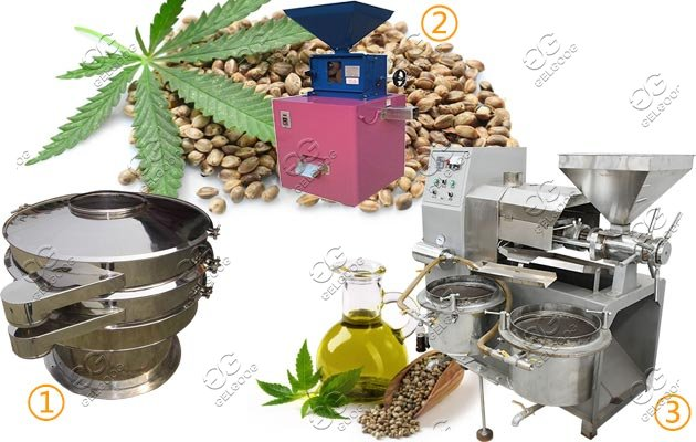 Hemp Seed Dehulling and Oil Press Machine|Cannabis Oil Making Line