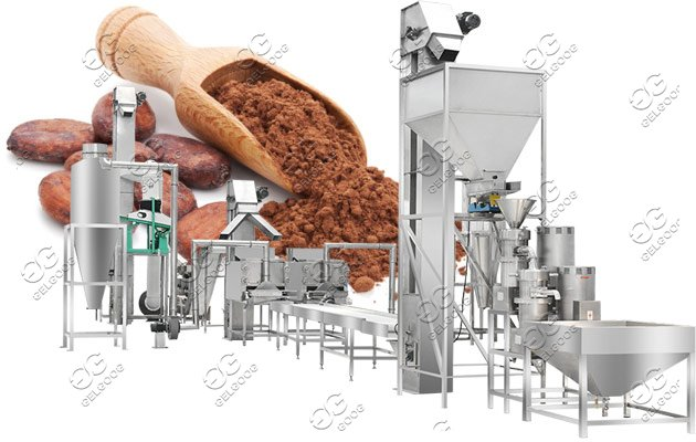 Automatic Cocoa Powder Making Machine|Commercial Cocao Beans Production Line