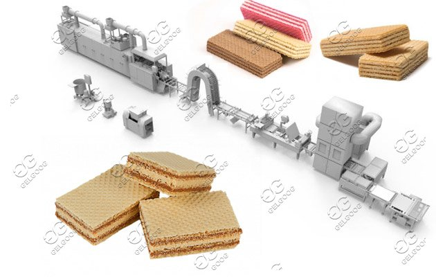 Automatic Wafer Cookie Production line With 45 Moulds