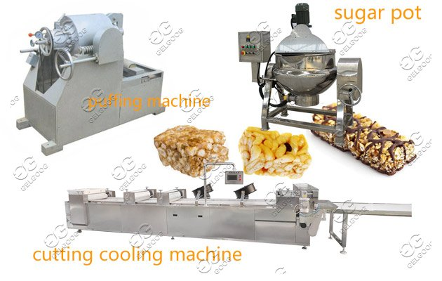 Puffed Cereal Bar Production Line|Energy Bar Making Machine