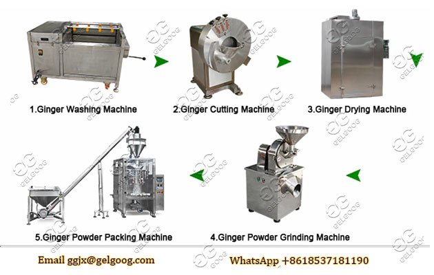 Ginger Powder Processing Line Powdered Ginger Making Plant