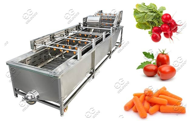 Air Bubble Radish Carrot Washing Equipment Commercial Use