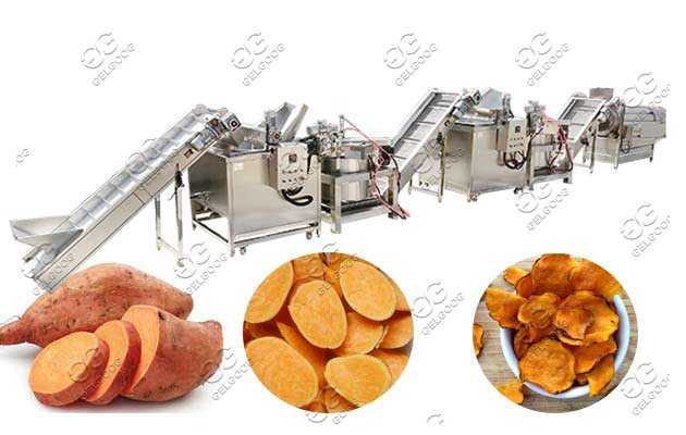 Energy Saving Sweet Potato Chips Production Line Machine
