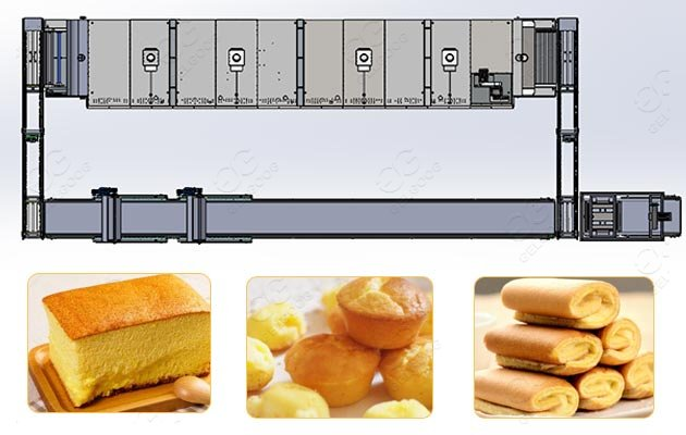 Industrial Bakery Cakes Muffins Production Line Price