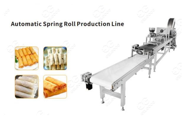 GG-CJX3000 Automatic Spring Roll Processing Line Machine