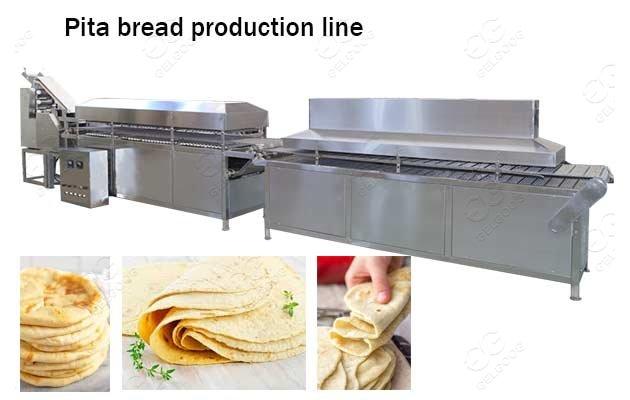 1000-6000pcs/h Arabic Pita Bread Tortilla Automatic Production Line