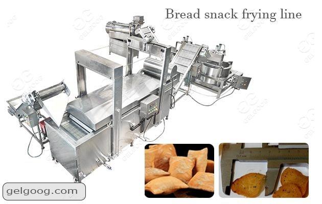 Industrial Bread Snacks Frying Flavoring Line