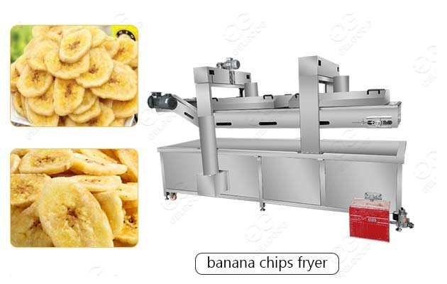 Automatic Plantain Banana Chips Continuous Fryer Factory Price