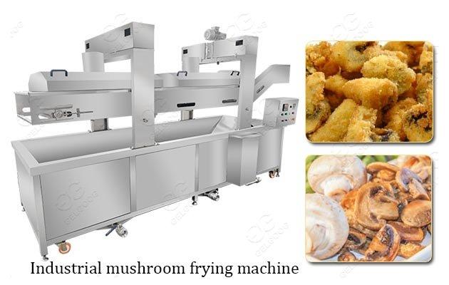 Fried Mushroom Processing Machine Agaric Industrial Fryer For Sale