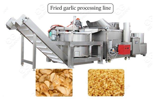 Crispy Fried Garlic Granules Flakes Processing machine For Sale