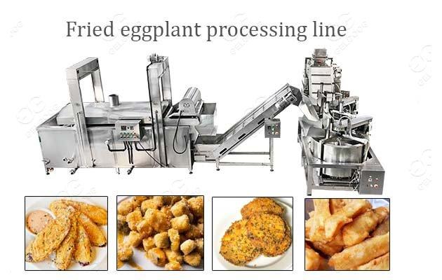 Fried Eggplant Processing Line Aubergine Frying Machine Price