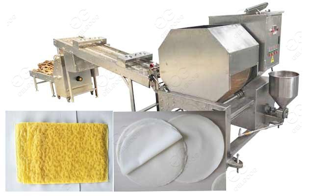 Chinese Egg Roll Pastry Wrapper Making Machine 1000-5000pcs/h