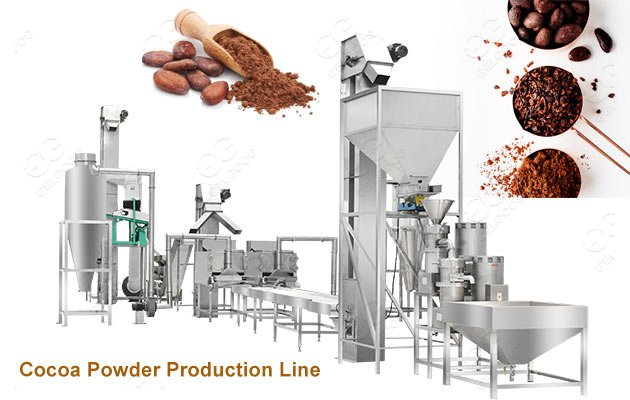 Automatic Cocoa Powder Cocao Processing Machine Production Line