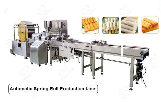 GG-CJX5000 Automatic Spring Rolls Processing Line Machine