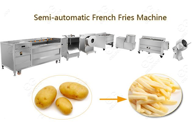 Small Scale Frozen French Fries Processing Line|Potato Finger Chips Equipment
