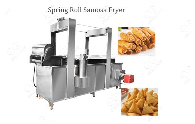 Industrial Spring Rolls Samosa Fryer Equipment Price