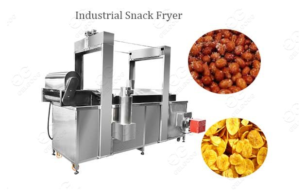 Continuous Fryer Machine Industrial Peanuts Chips Chicken Fryer For Sale