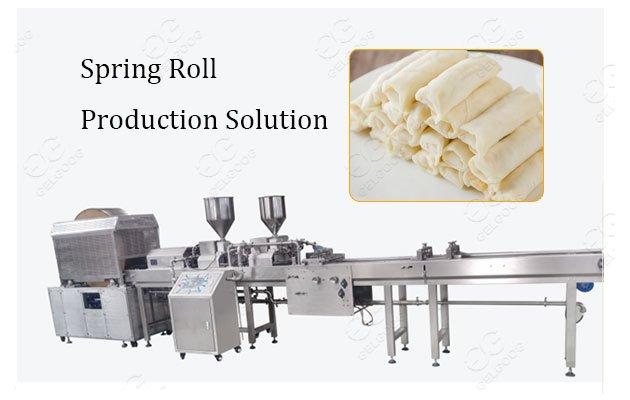 Automatic Spring Roll Harumaki Processing Solution