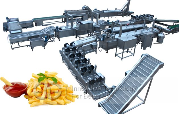 potato finger chips fries processing line