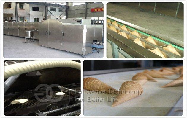 ice cream cone production line