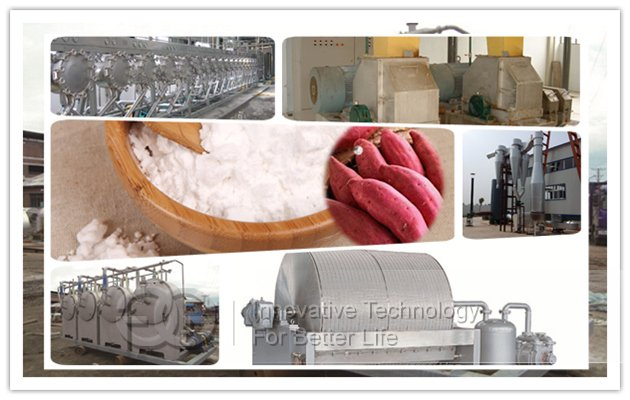 500 kg starch per hour Sweet Potato Starch Production Plant made in china