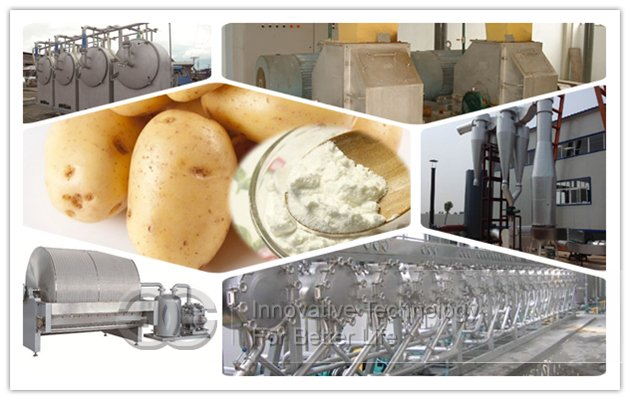 commercial potato starch line