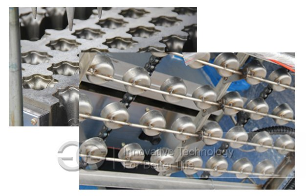 wafer ice cream cones mould