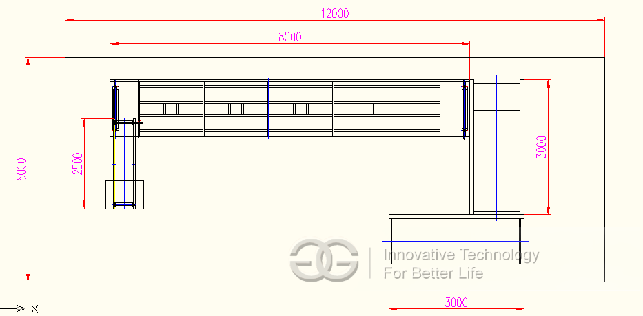 design drawing for seed roasting machine