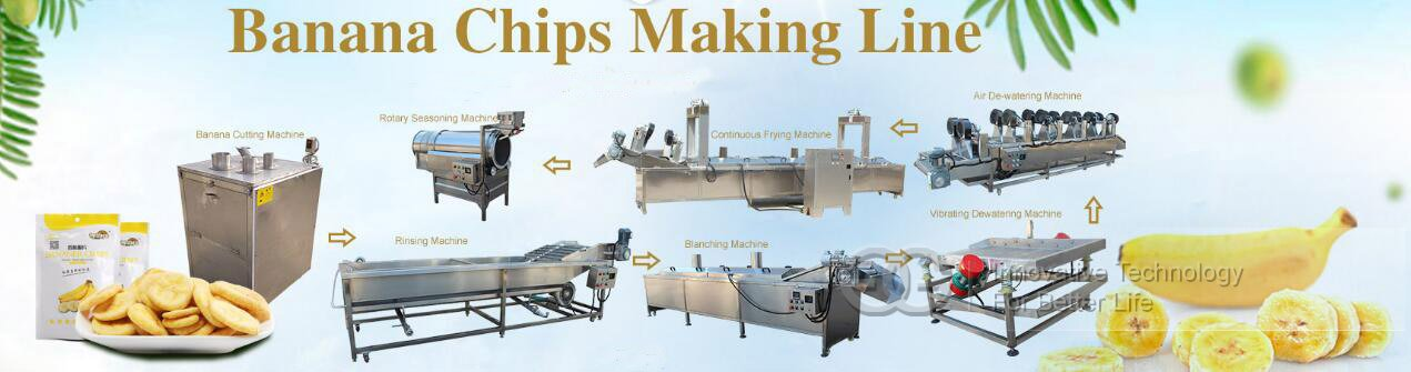 banana chips making line